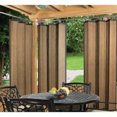 Easy Glide Indoor Outdoor Patio Bamboo Ring Top Window Curtain Panel Espresso in Home & Garden, Window Treatments & Hardware, Curtains, Drapes & Valances Outdoor Gazebos, Outdoor Privacy, Outdoor Rooms, Indoor Outdoor, Outdoor Living, Outdoor Decor, Outdoor Curtains For Patio, Outdoor Blinds, Balcony Privacy