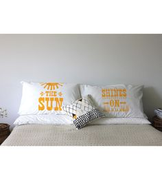 Sunshine pillows