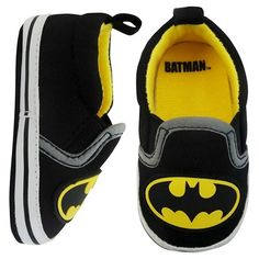 Batman Baby Boys' Crib Shoes - Black 3-6 M : Target