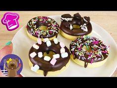 Φτιάχνουμε donuts με γλάσο σοκολάτας. - YouTube