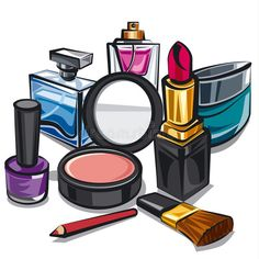 Illustration about Illustration of the makeup and perfumes. Illustration of care… Illustration about Illustration of the makeup and perfumes. Illustration of care, background, illustration – 60768659 Perfume, Makeup Collage, Makeup Clipart, Makeup Illustration, Makeup Drawing, Makeup Wallpapers, Girly Drawings, Fashion Wall Art, Free Makeup