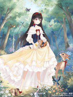 Snow White Anime Style