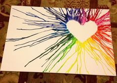 Crayon Melting Heart