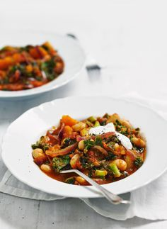 Try our healthy, vegetarian stew recipe – it makes a warming midweek meal and it's a good source of meat-free protein too.