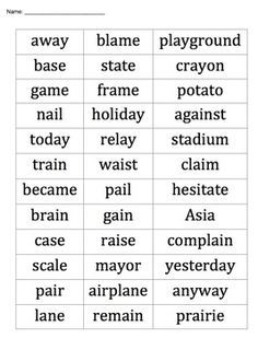 list of 10 spelling words for 3rd grade - Google Search