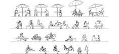 Oturan insan şablonları