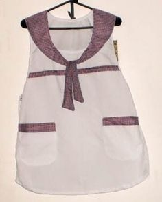 guardapolvo delantal docente tela arciel Sewing, Aprons, Chic, How To Make, Clothes, Vintage, Women, Ideas, Fashion