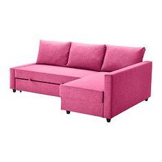 FRIHETEN Sofa narożna rozkładana - Skiftebo amarantowy - IKEA