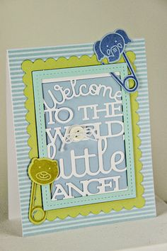 Welcome To The World Card by Erin Lincoln for Papertrey Ink (May 2014)