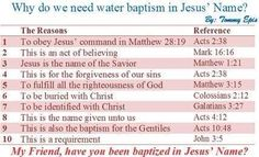 Why Jesus Name baptism is imperative to our salvation.