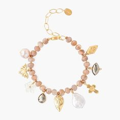 """Robin Laing on Instagram: """"Another beautiful Chan Luu piece. Something very special for someone special. 18k gold plated with rose quartz, pyrite, pearl and mother of…"""" 13 Reasons, Chan Luu, Rose Quartz, Robin, 18k Gold, Plating, Pearls, Bracelets, Beautiful"""