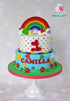 Rainbow Birthday Cake by Rose