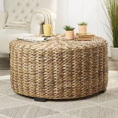 Affordable Price Claiborne Woven Coffee Table By Birch Lane™ Circular Coffee Table, Wicker Coffee Table, Rattan Coffee Table, Stylish Coffee Table, Small Coffee Table, Coffee Table Wayfair, Lift Top Coffee Table, Coffee Table With Storage, Decorating Coffee Tables
