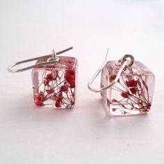 flower resin earrings