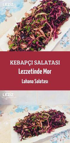 Kebapçı Salatası Lezzetinde Mor Lahana Salatası – Vegan yemek tarifleri – Las recetas más prácticas y fáciles Coleslaw, Moroccan Salad, Yummy Food, Tasty, Cabbage Salad, Pasta Salad Recipes, Turkish Recipes, Easy Dinner Recipes, Vegan Recipes