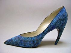 Roger Vivier House of Dior   Evening shoes French 1960 Silk, feathers