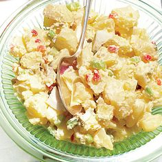 Shout Hallelujah Potato Salad | Bragging rights for this flavor-packed, perfectly balanced favorite (from The Southern Foodways Alliance Community Cookbook) go to Blair Hobbs of Oxford, Mississippi. | #Recipes | SouthernLiving.com
