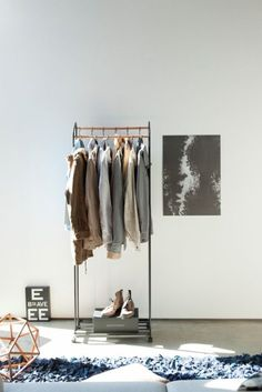 Is there any better feeling than coming home and shrugging off all those winter layers? This coat hanger with extra shelf space for shoes, will look great in your foyer and give your space a homey feel while keeping it tidy and saving space. Coat Hanger, Your Space, Wardrobe Rack, Tower, Shelves, Furniture, Black, Home Decor, Bedroom