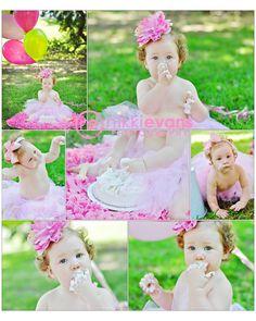 Smash cake photo by Nikki Evans Photography First Birthday Pictures, Twin First Birthday, First Birthday Cakes, First Birthday Parties, Girl Birthday, First Birthdays, Birthday Ideas, Cake Smash Photography, Cute Photography