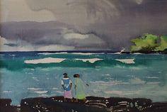 """""""Kona, Hawaii,"""" Millard Sheets, watercolor, 22 x 30"""", Hardy Galleries."""
