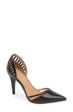 Calvin Klein 'Gilia' Cutout Leather d'Orsay Pump (Women) available at #Nordstrom