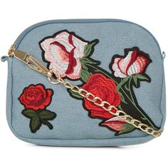 New Look Pale Blue Floral Embroidered Across Body Bag (57.960 COP) ❤ liked on Polyvore featuring bags, handbags, shoulder bags, pale blue, crossbody shoulder bag, shoulder strap purses, pale blue handbag, shoulder strap bags and crossbody handbags