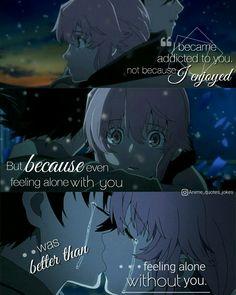 Anime quotes Anime Quotes Mirai Nikki Future diary Yuki and yuno Best quotes Gasai yuno #quotes