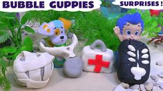 Bubble Guppies Play Doh Surprises Mermaid Doc McStuffins Cars Frozen Lal... The #Bubbleguppies open some #Playdoh surprises to reveal  #Disney  characters amongst other surprise toys and all underwater. #surprisetoys   #frozen   #cars   #playdough