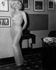 "Marilyn Monroe; the night she sang ""Happy Birthday"" to JFK; May 19, 1962. S)"