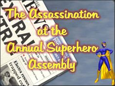 Murder Mystery Game: The Assassination at the Annual Superhero Assembly -Instant Download