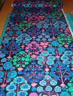 Sprays in black by Kaffe Fassett