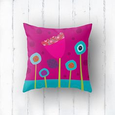 Children's cushions Kids bedding Kids pillow by Lespetitsbuttons, £15.00