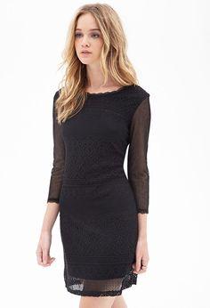 Mesh Crochet Shift Dress #F21StatementPiece