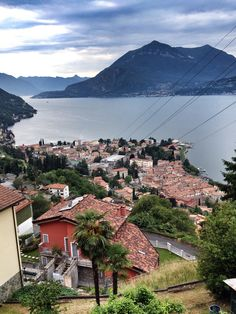 Bellano on the eastern shore of Lake Como in the Province of Lecco, Lombardia
