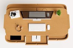 Joao Teixeira recognises that many of us have transitioned to working from home, and that means adjusting our workspaces to function as a home office. Not that his Shelter Desk was designed specifically for the current situation—it was more designed for people who like to […]Visit Man of Many for the full post. Masculine Home Offices, Hide Cables, Executive Room, Inside Design, Home Office Desks, Organizing Your Home, Writing Desk, Deco, Innovation Design