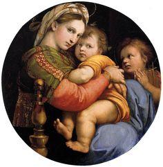 Madonna della seggiola ( 1514 ), Raffaello. Firenze, Palazzo Pitti.