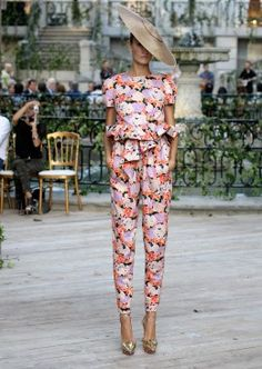 Need an occasion for a heavily be-flowered jumpsuit! Delpozo SS13