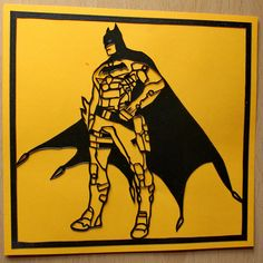 Hand done paper cut out of Batman. For Sale at £39.95 Postage 1st class and signed for, included in price. Created by Admiral Salt