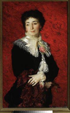 Leon Wyczółkowski (1852-1936), Portret damy, 1881