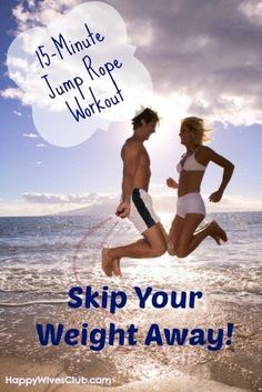 http://leanwife.com/is-jumping-rope-good-cardio/ Skip Your Weight Away- 15-Minute Jump Rope Workout - The Fun Workout! #Health #Fitness