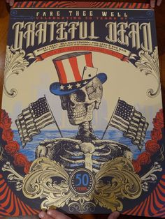Justin Helton Grateful Dead Fare Thee Well Golden Road VIP Poster Set Chicago | eBay
