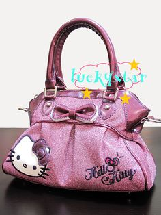 Hello Kitty shiny purple tote / shoulder bag