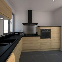 Współczesna, drewniana kuchnia / Contemporary, wooden kitchen