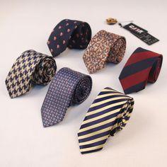Casual Business Polyester Silk Tie Skinny Necktie Classic Designer Stripe Printed Ties For Mens Wedding Suit Slim Necktie Cravat