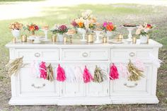 Dessert Buffet by Two Sweets Bake Shop, Styling and Vintage Furniture by RW Events, Photography by Amalie Orrange Photography