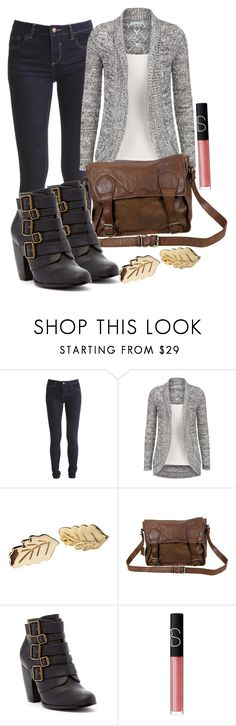 """""""Elena inspired outfit"""" by tvdstyleblog ❤ liked on Polyvore featuring Vila Milano, VIPARO, Michael Antonio and NARS Cosmetics"""