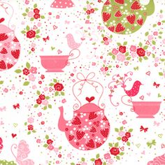 Pink Strawberry Tea Party