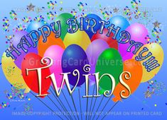 Look at happy birthday twins wishes beautiful images with romantic quotes and sweet text messages for boys and Girl collection from here. Birthday, Happy Birthday Cards, Birthday Wishes, Birthday Pictures, Birthday Card Sayings, Happy Birthday Me, Birthday Messages, Birthday Images, Birthday Wishes And Images