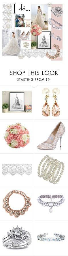 """""""Summer wedding"""" by october-cat-studios ❤ liked on Polyvore featuring Milly, Valentin Magro, Paper Dolls, Mignonne Gavigan, WithChic, Miadora, Allurez and AK Anne Klein"""
