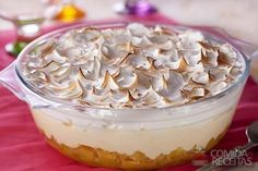 Receita de Gelado de abacaxi diferente em receitas de doces e sobremesas, veja essa e outras receitas aqui!